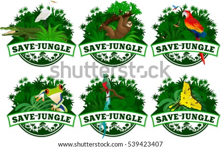 save jungle emblems with