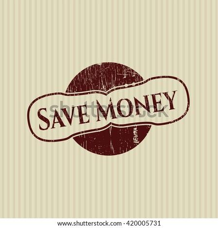 Save Money grunge seal