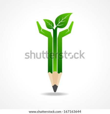 save nature concept with pencil