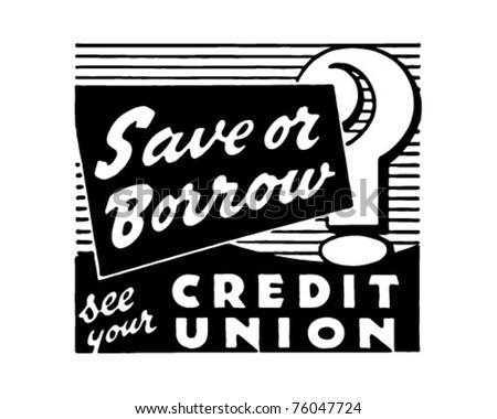 Save Or Borrow? - Retro Ad Art Banner