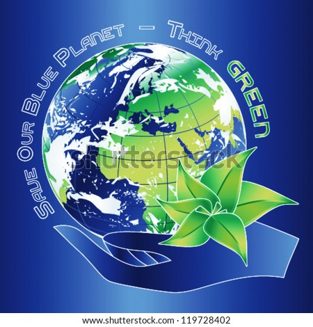 Save our Blue Planet (vector)