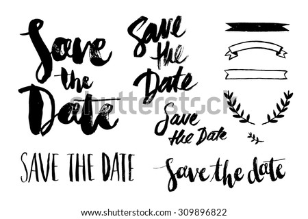save the date brush script