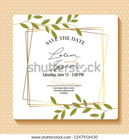 save the date card #1247916430