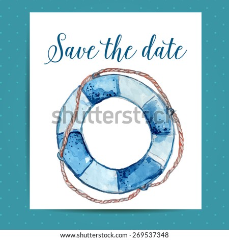 save the date card layout for