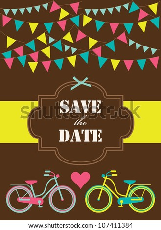 save the date card. vector illustration