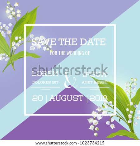 save the date card with spring