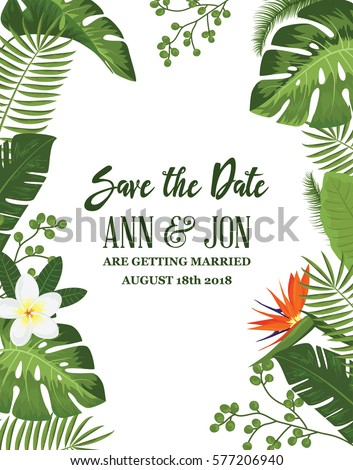 save the date card with...