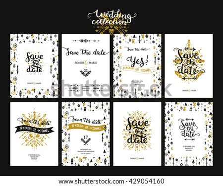 save the date cards  boho