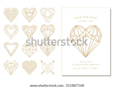 Modern Geometric Invitation Download Free Vector Art Stock