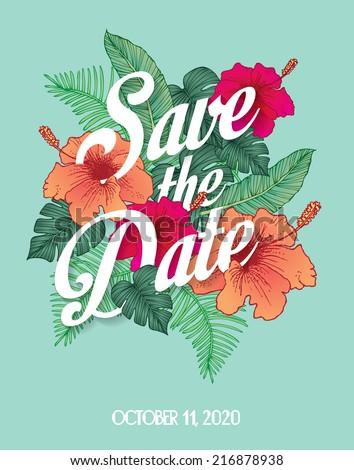 save the date invite card