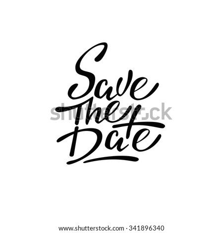 Save the date. lettering.
