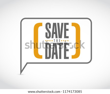 save the date message bubble isolated over a white background Stockfoto ©