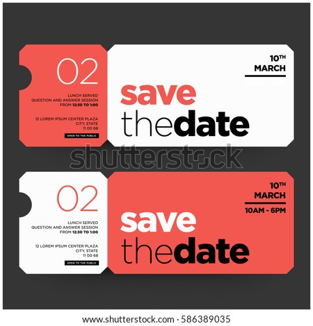 save the date minimalist modern