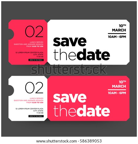 Save The Date Minimalist Modern Invitation Design