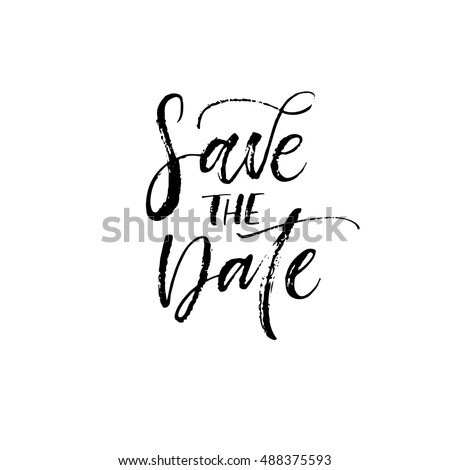 save the date postcard hand