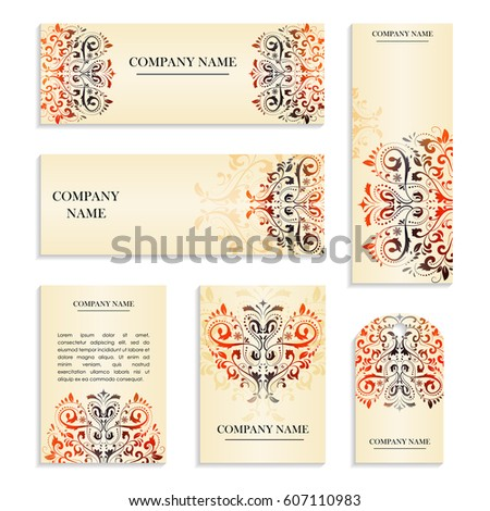 Save the date. Set of postcards with inscription.Template with colorful handmade abstract pattern in pink color. Vector illustration for congratulation or invitation.Can be used to invite to a wedding