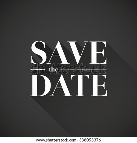 Save the date vector lettering