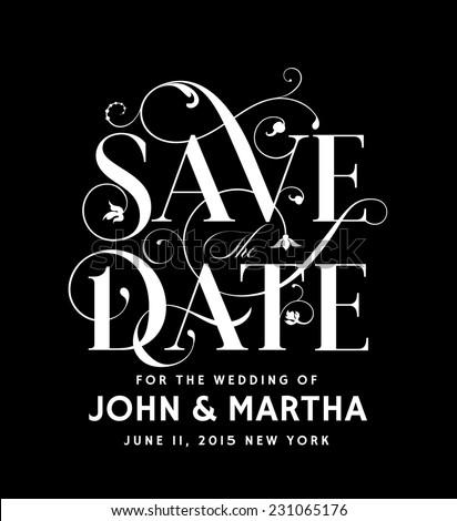Save the Date Vintage Design