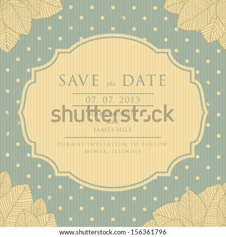 Save the Date  vintage style scrapbooking, vector