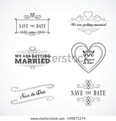 save the date wedding graphic