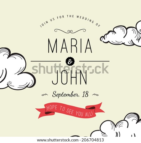 Free Vector Save The Date Hot Air Balloon Download Free Vector – Save the Date Wedding Template