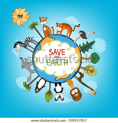 save the earth concept with a