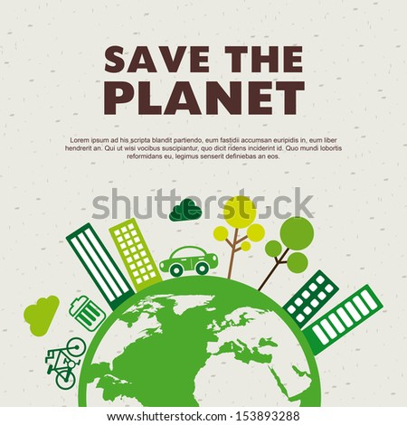 save the planet design over