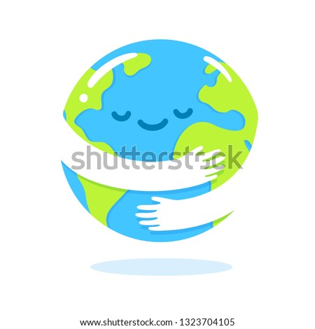 save the planet  earth hug