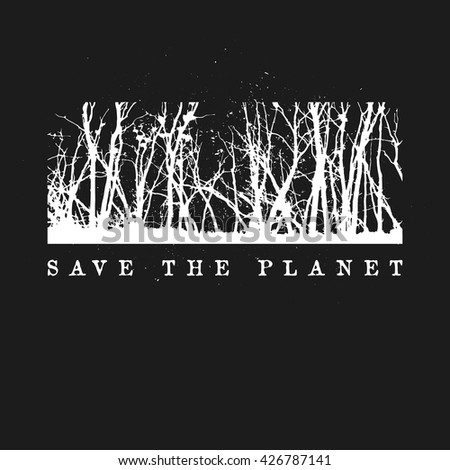 save the planet logo concept