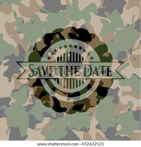 Save the Planet on camo pattern
