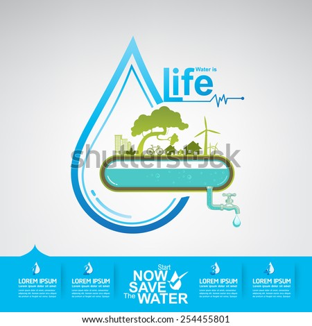 save the water vector water is