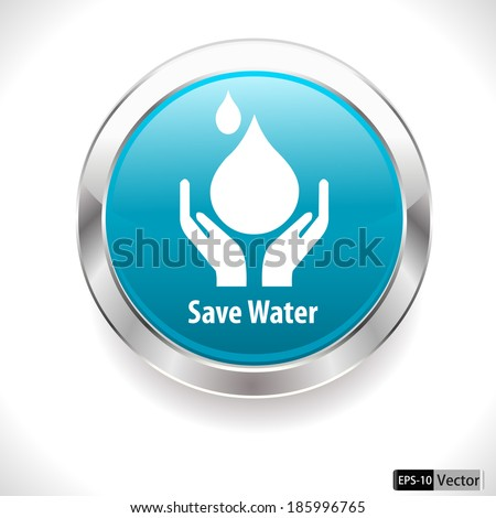 Water Drop Vector Save Water Badge Water Drop