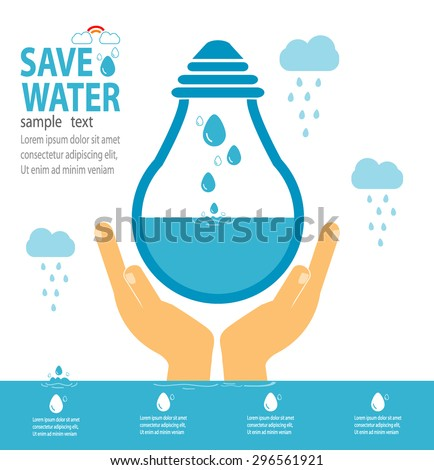 save water concept  ecology
