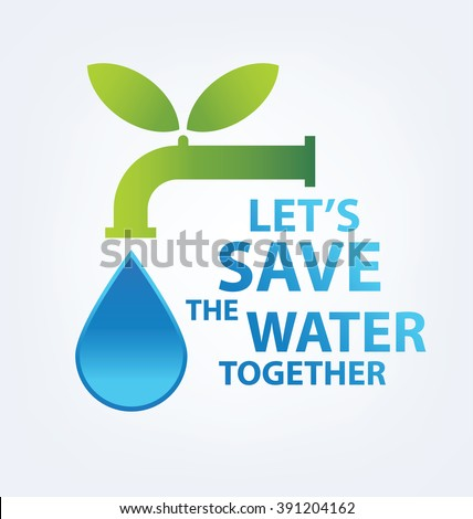 Save Water Concept Infographic Template Vector Illustration