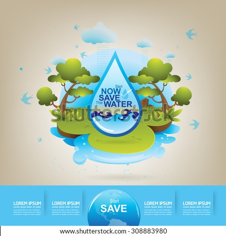 Excellent save water concept save the world with save electricity pictures for drawing competition
