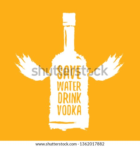 save water drink vodka funny