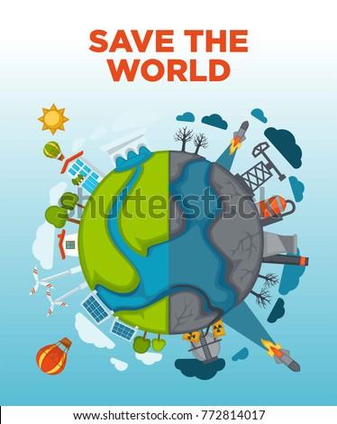 save world agitation poster