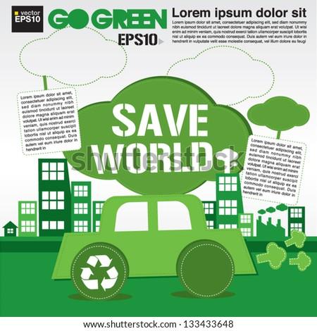 Save world concept illustration vector.EPS10