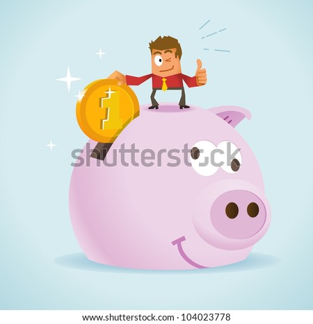 Saving Money for Future. Vector illustration