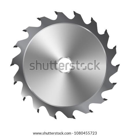 Saw blade for circular saw. Vector illustration