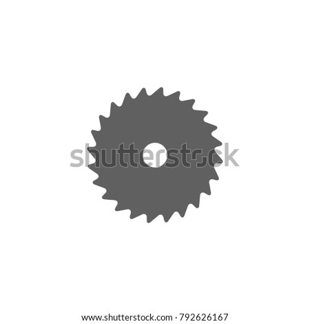 saw blade icon vector