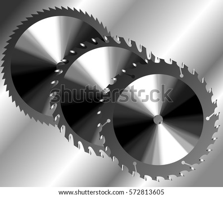 saw blade metal of illustrator