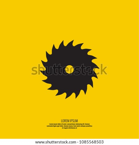 Saw blade vector icon.
