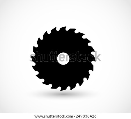 Saw icon vector