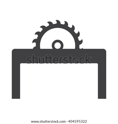 Saw icon Vector Illustration on the white background.