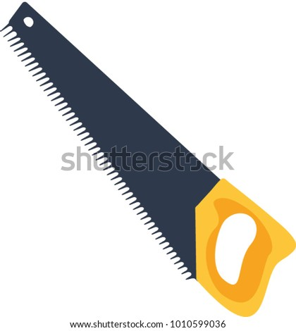 Saw, sharp, denticles, saw, tools, construction, wood, black, yellow, saw a tree