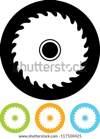 Saw Wheel - Vector icon isolated