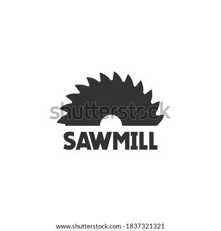 Sawmill icon. Milling cutter symbol. Vector isolated on white. Stockfoto ©