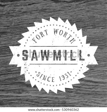 sawmill logo  vintage emblem
