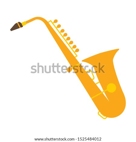 Saxophone flat icon. You can be used Saxophone icon for several purposes.